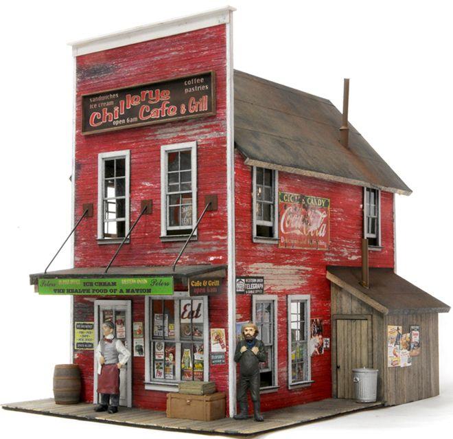 画像1: Chillery's Cafe O スケール ウッドモデル