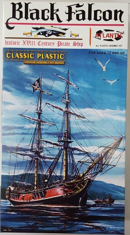 画像1: アトランティス 1/100 海賊船 ブラックファルコン号