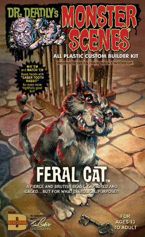 画像1: 1/13 モンスターシーン FERAL CAT