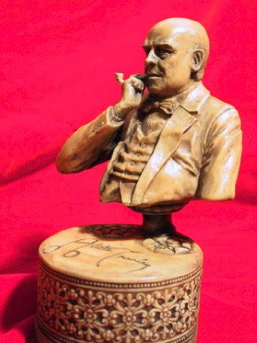 画像4: Aleister Crowley sculpture with pipe