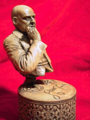 画像3: Aleister Crowley sculpture with pipe
